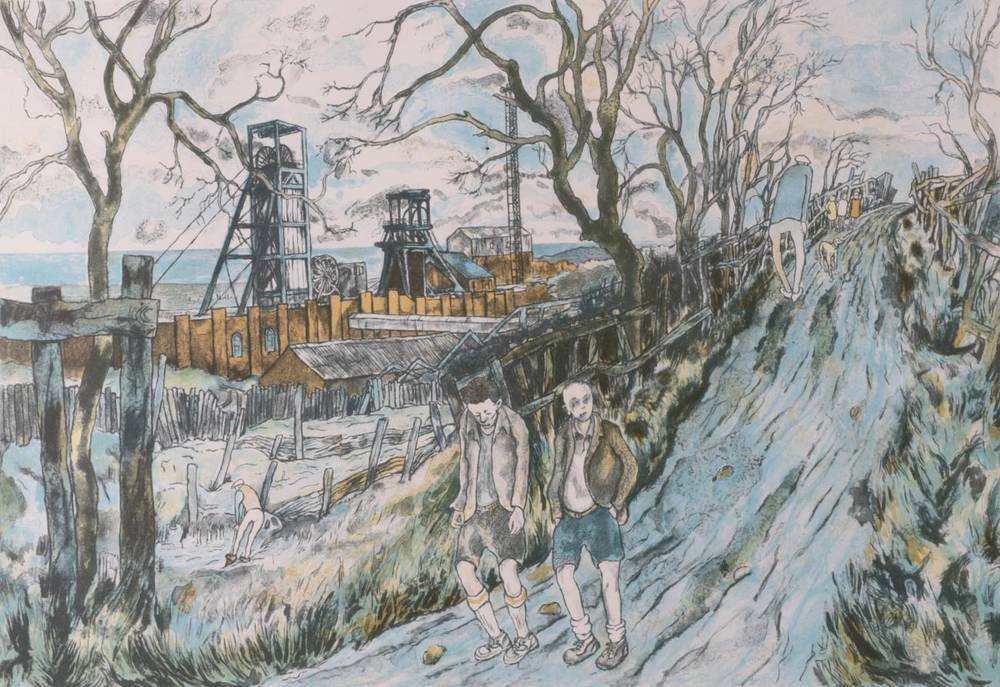 Lot 15 - Tom McGuinness (1926-2006) ''The Allotments Easington'' Signed and dated (19)92, numbered...