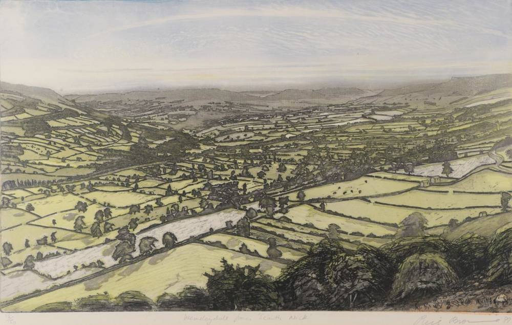 Lot 16 - Piers Browne (b.1949)  ''Wensleydale from Scarth Nick'' Signed, inscribed and numbered 116/150,...