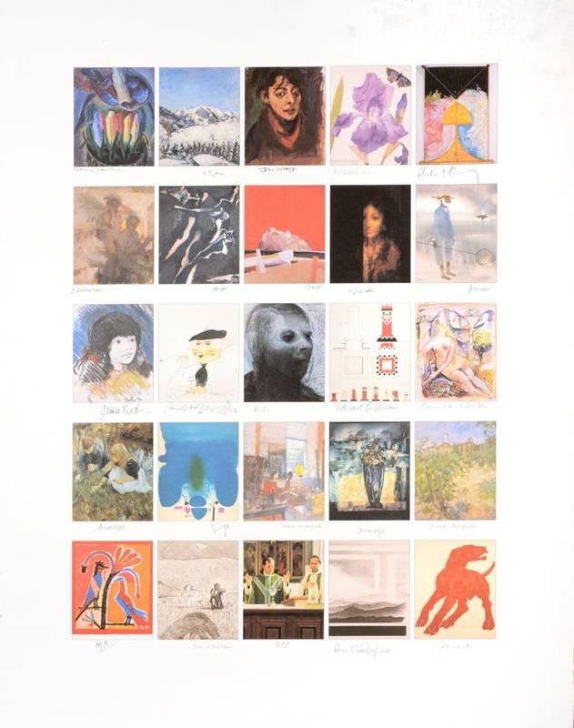 Lot 20 - Various Artists  ''Founders Print''  Lithograph comprising twenty-five postcard size images...