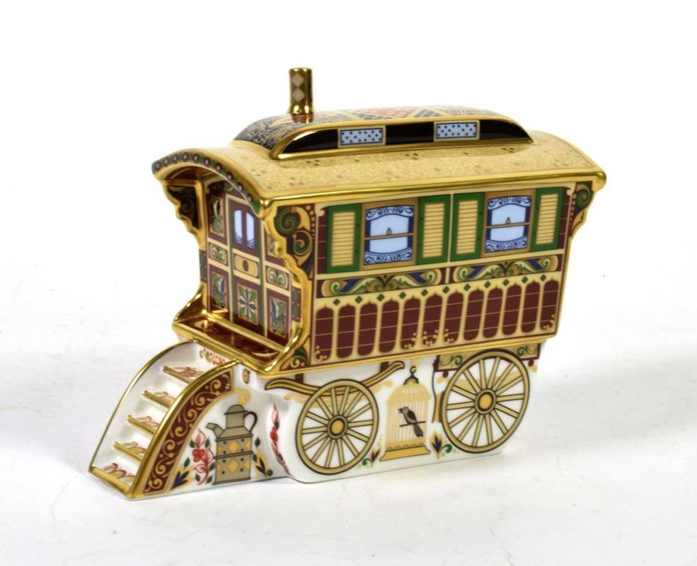 Lot 149 - A Royal Crown Derby Burton Wagon Gypsy Caravan