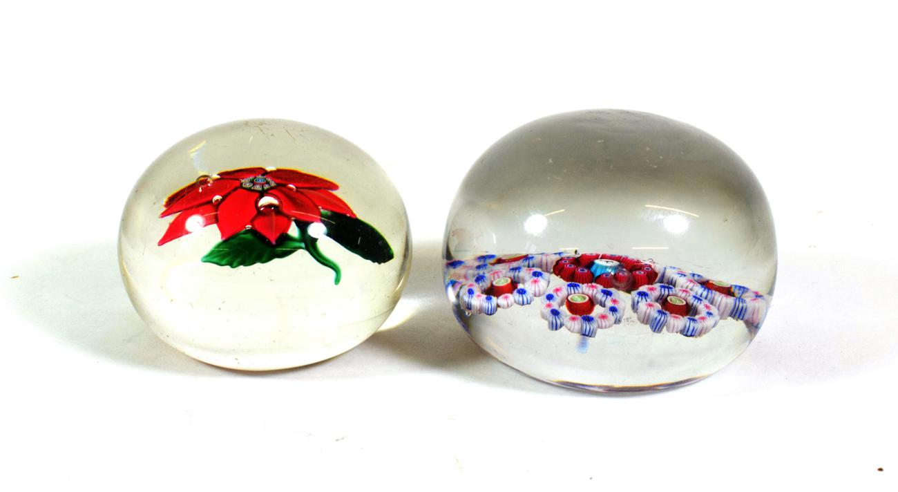 Lot 506 - A Baccarat Patterned Millefiori Paperweight, circa 1850, with central goat silhouette cane within a