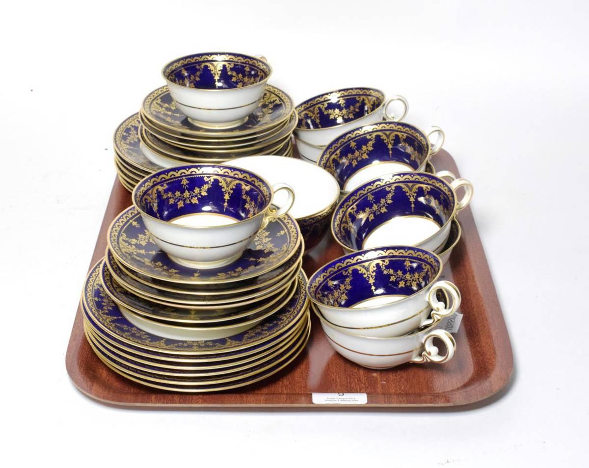 Lot 9 - Spode Copeland china tea wares retailed by Apsley Pellatt & Co London
