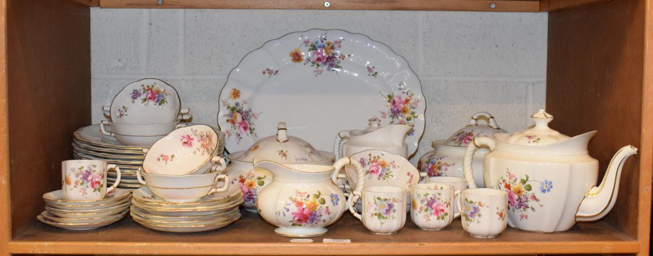 Lot 169 - A quantity of Royal Crown Derby floral tea and dinner ware
