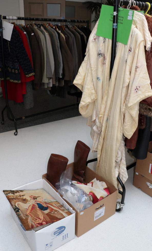 Lot 1032 - Assorted items including a pair of gents brown leather lace up riding boots, pair of ladies...