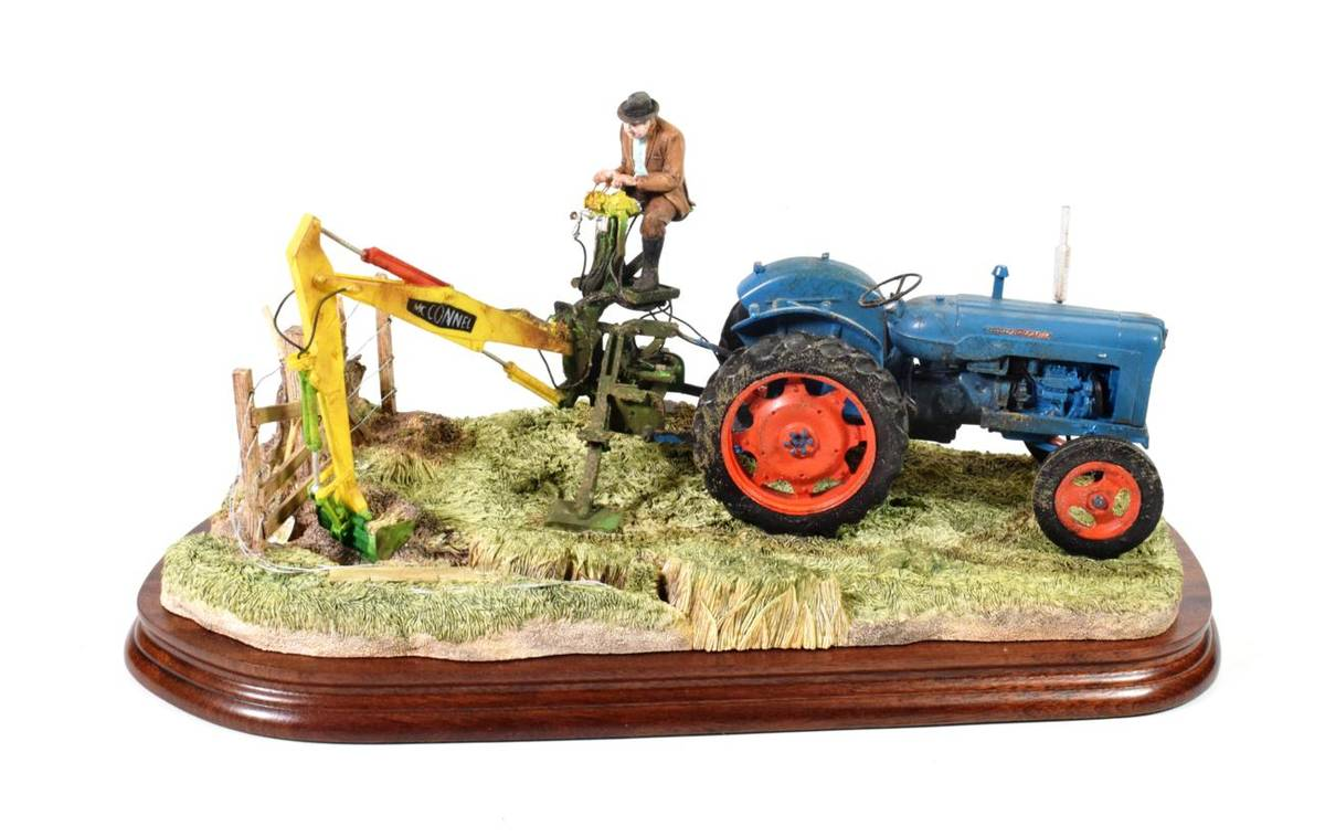 Lot 2 - Border Fine Arts 'A Day's Work Ditching', model No. B0832 by Ray Ayres, limited edition...
