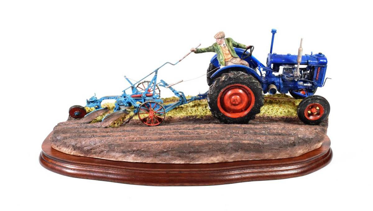 Lot 9 - Border Fine Arts 'At the Vintage' (Fordson E27N Tractor), model No. B0517 by Ray Ayres, limited...