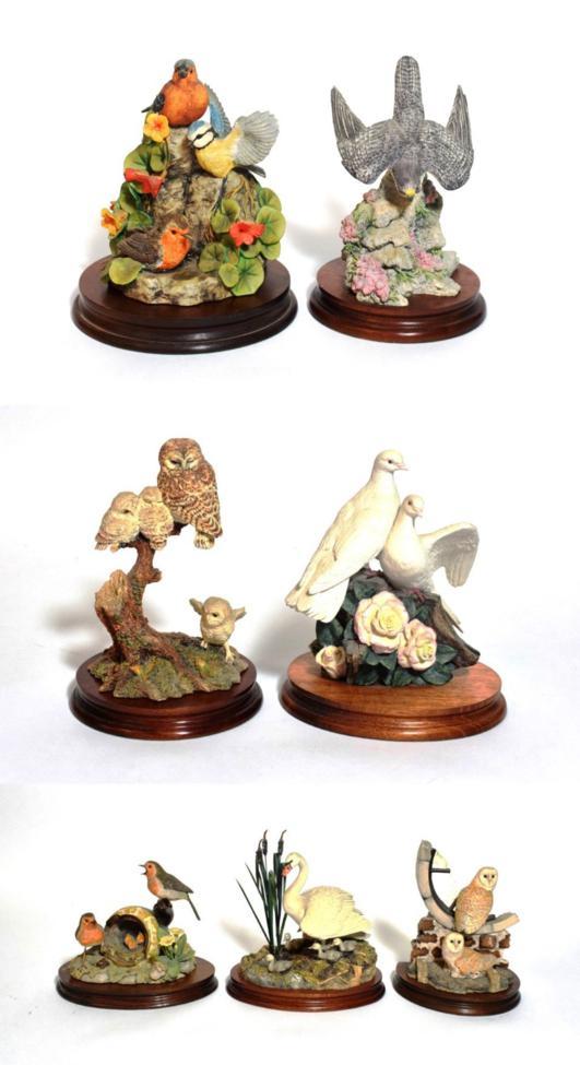 Lot 11 - Border Fine Arts Bird Models Including: 'The Joy's of Spring', SOC2, 'Silent Sanctuary', SOC1,...