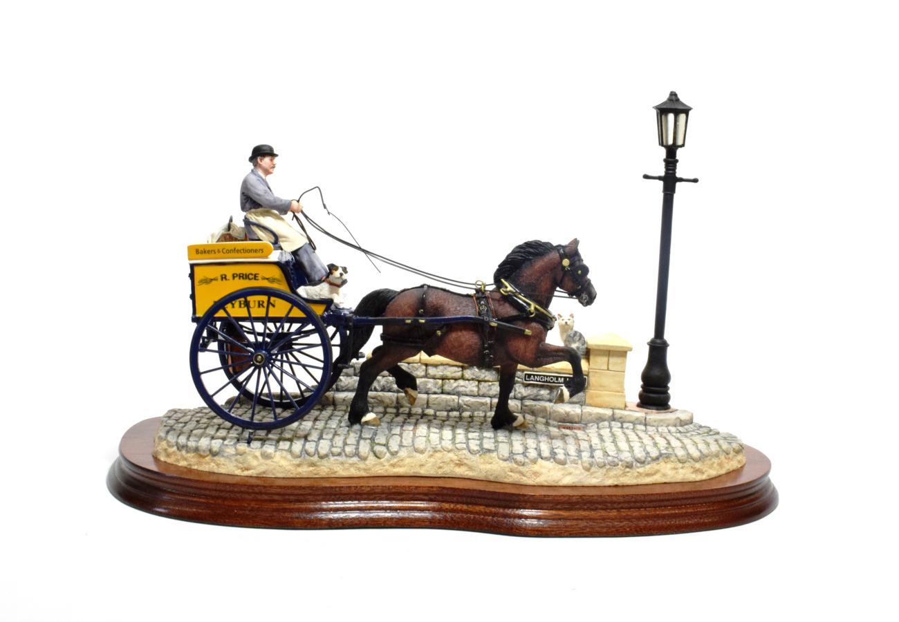 Lot 27 - Border Fine Arts 'Delivered Warm' (Horse-drawn baker's van), model No. B0040 by Ray Ayres,...