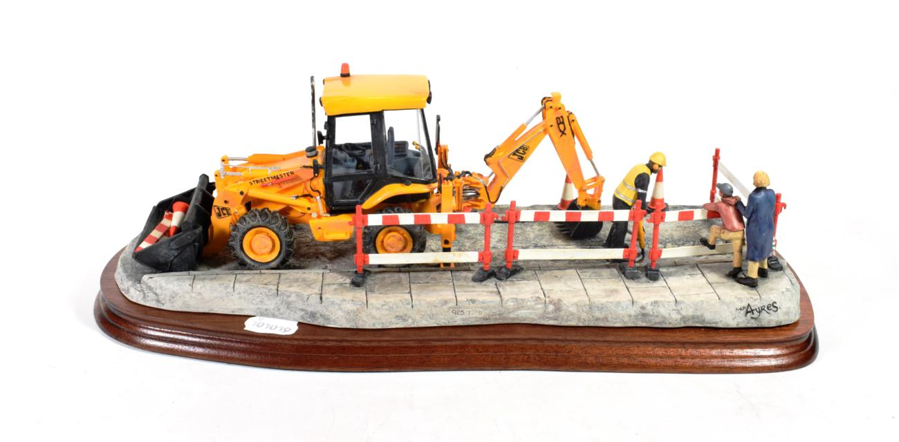 Lot 31 - Border Fine Arts 'Essential Repairs' (Workman with JCB Back Hoe), model No. B0652 by Ray Ayres,...