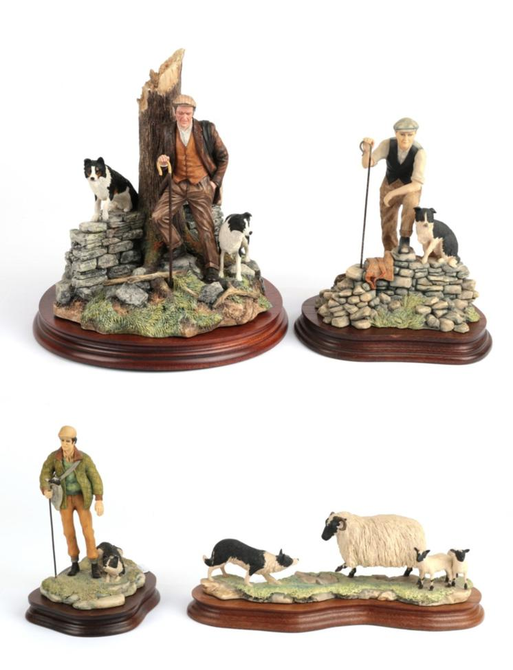 Lot 32 - Border Fine Arts 'Flash and Lightning' (Shepherd and Border Collie), model No. B0668 by Ray...