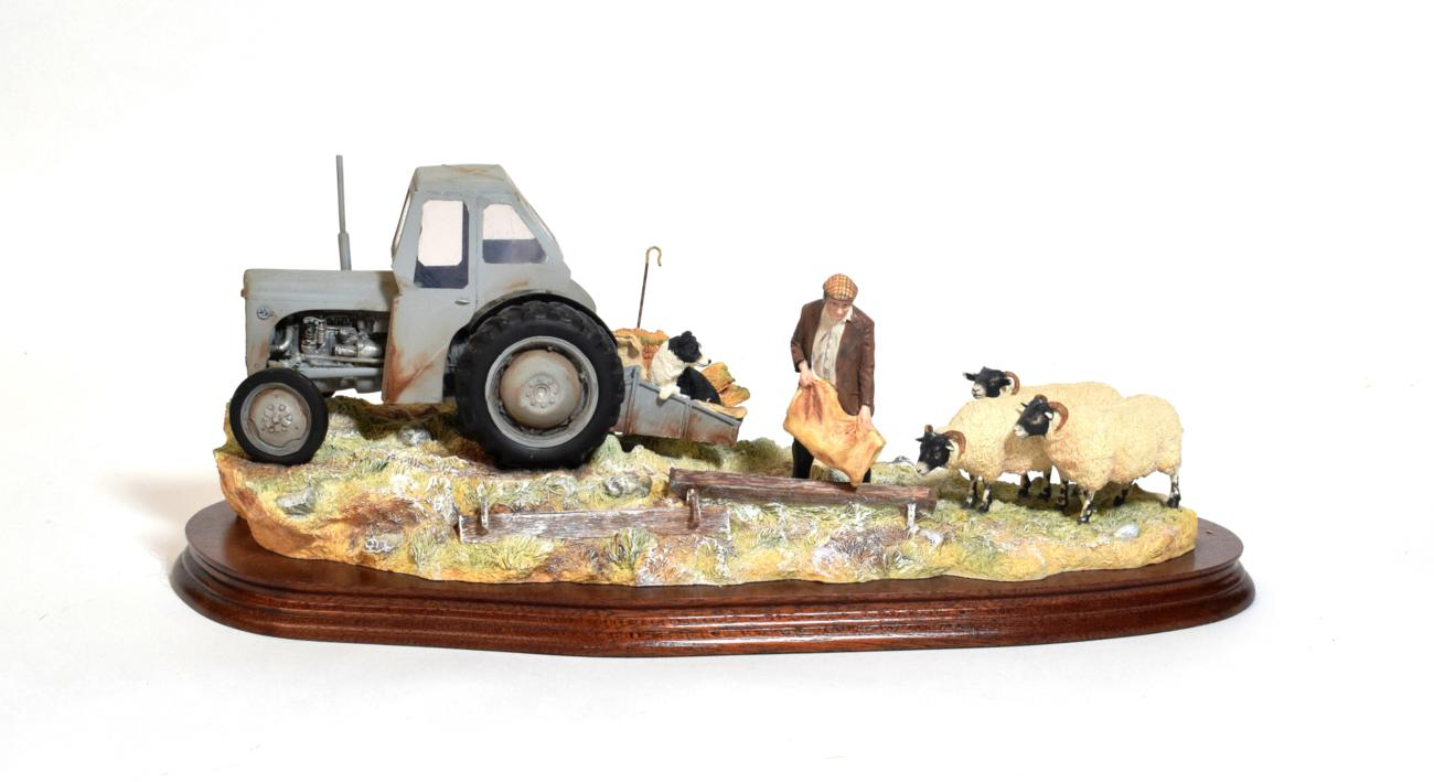 Lot 35 - Border Fine Arts 'Frosty Morning' (Fergie TE20), model No. B0343 by Ray Ayres, limited edition...