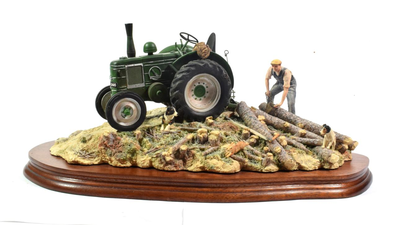 Lot 39 - Border Fine Arts 'Hauling Out' (Field Marshall Tractor), model No. JH98 by Ray Ayres, limited...