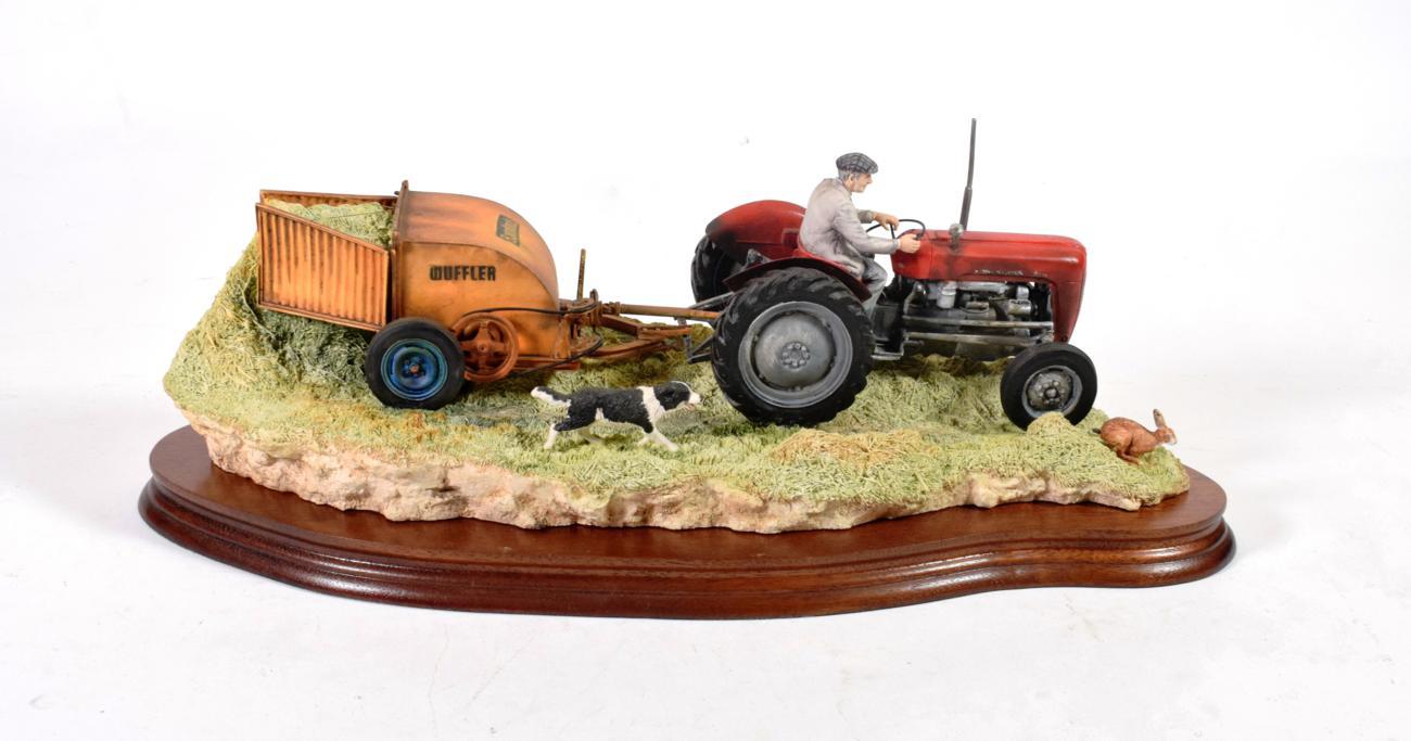 Lot 43 - Border Fine Arts 'Hay Turning' (Massey Ferguson Tractor and Wuffler), model No. JH110 by Ray Ayres