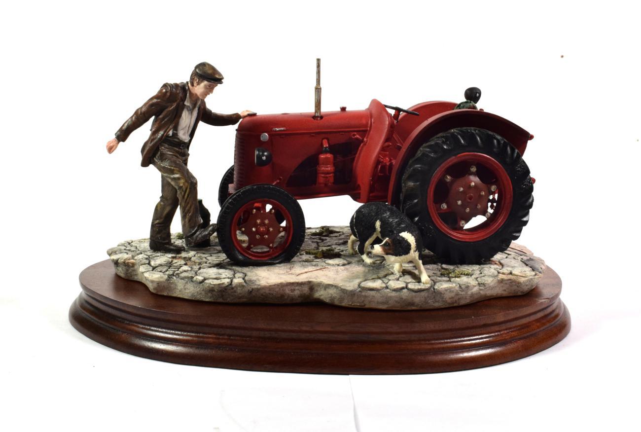 Lot 46 - Border Fine Arts 'Kick Start' (David Brown Cropmaster Tractor, Farmer and Collie), model No....