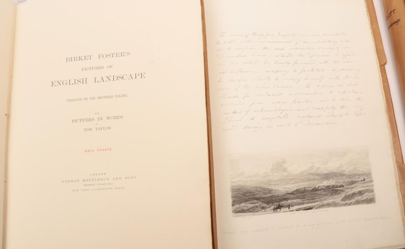 Lot 13 - Foster, Birket Pictures of English Landscape. George Routledge, 1881. Full vellum gilt; 30...