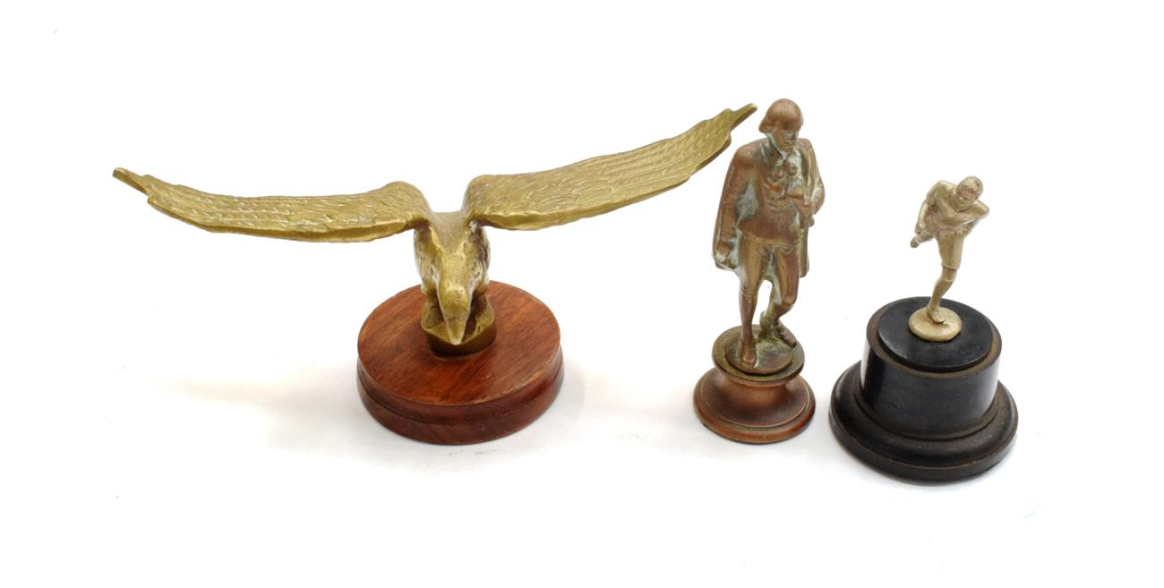 Lot 3013 - Three Accessory Car Mascots, to include an Edwardian solid brass mascot in the form of William...