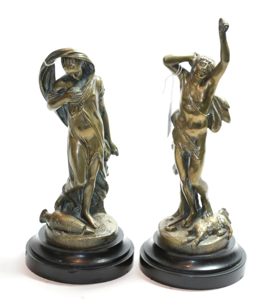 Lot 14 - A pair of Victorian cast brass figures
