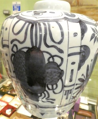 Lot 55 - An 18th century tin glaze vase in the Chinese style