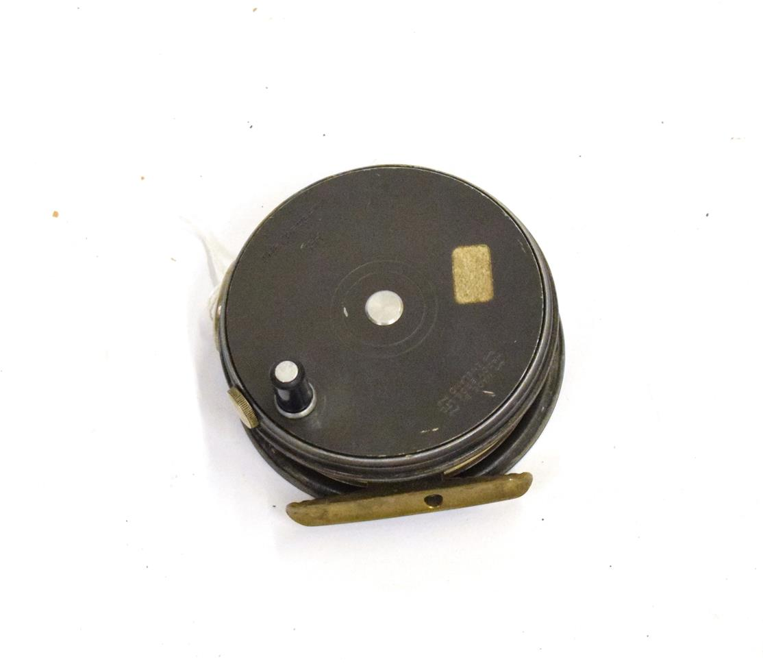 Lot 3045 - A Hardy, The ''Perfect'', 3 3/8 in. Alloy Fly Reel, agate line guide, nickel tension adjuster...