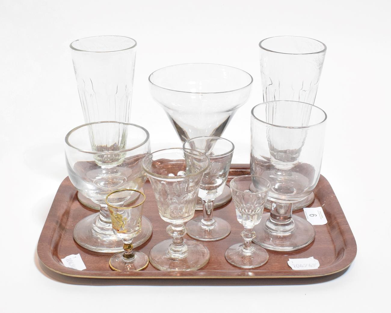 Lot 9 - A collection of 19th century stemmed glassware, various sizes (9)