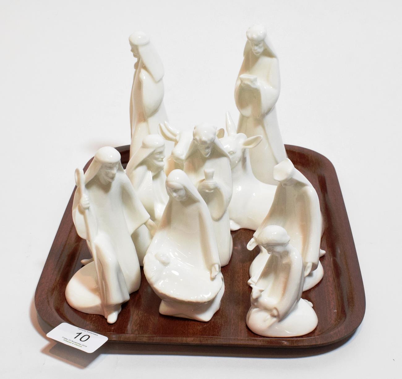 Lot 10 - A Royal Doulton nativity set (boxed)