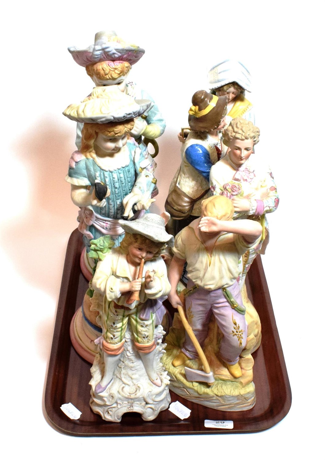 Lot 29 - Seven various late 19th century Continental bisque figures