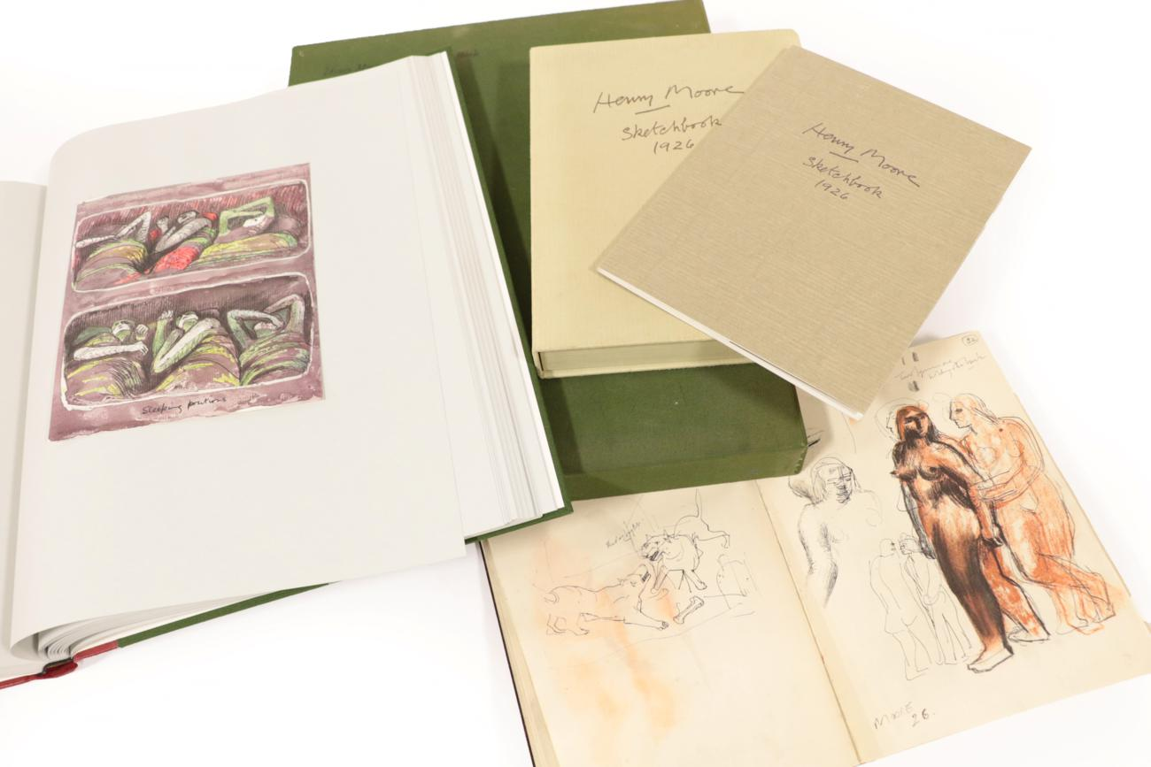 Lot 6 - Moore, Henry The Shelter Sketch-Book. Marlborough Fine Art, 1967. Folio, collotypes bound in...
