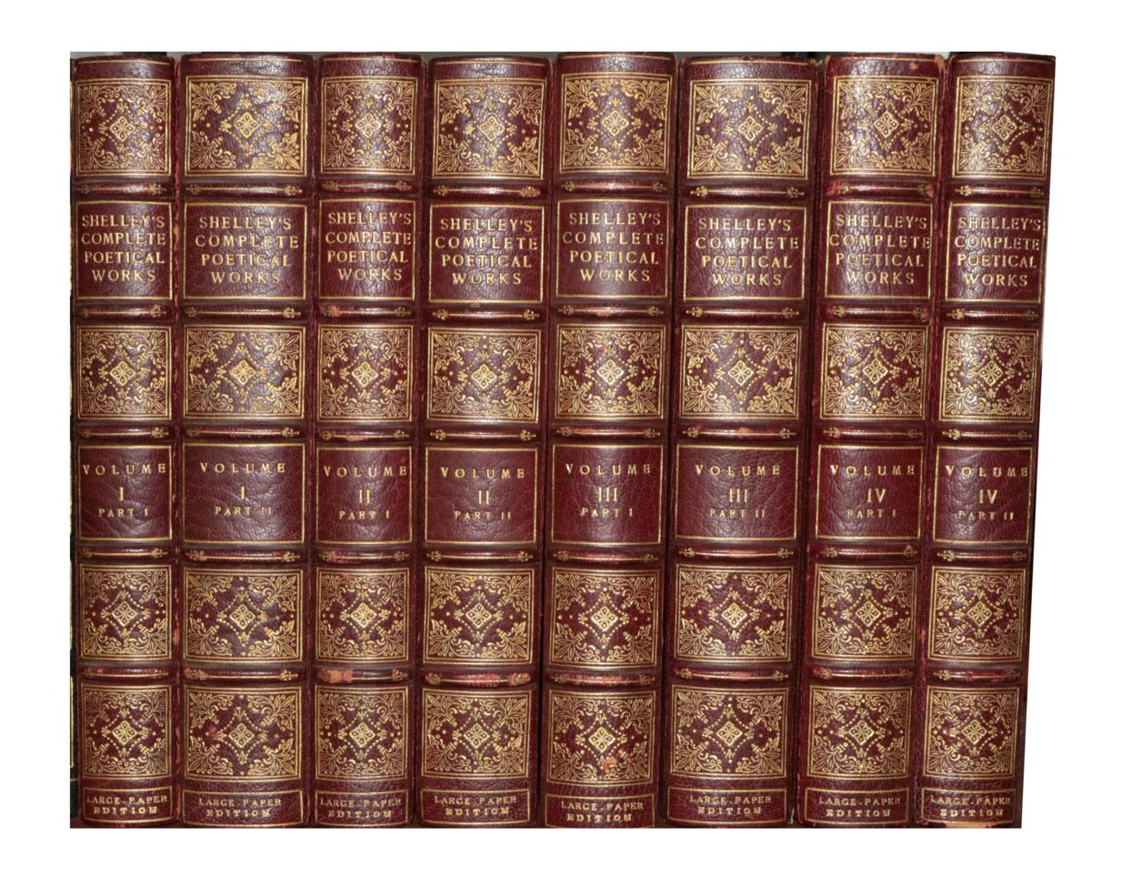 Lot 91 - Shelley, Percy Bysshe The Complete Poetical Works. Cambridge: The Riverside Press, 1892. 8vo (8...
