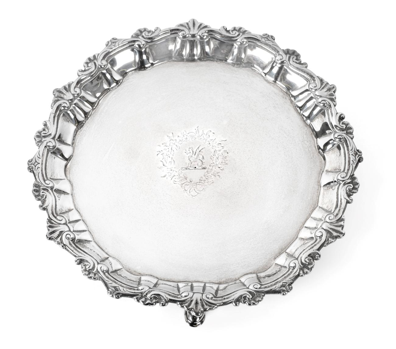 Lot 3009 - A George II Irish Provincial Silver Waiter, by Joseph Johns, Limerick, Circa 1750, With Later...