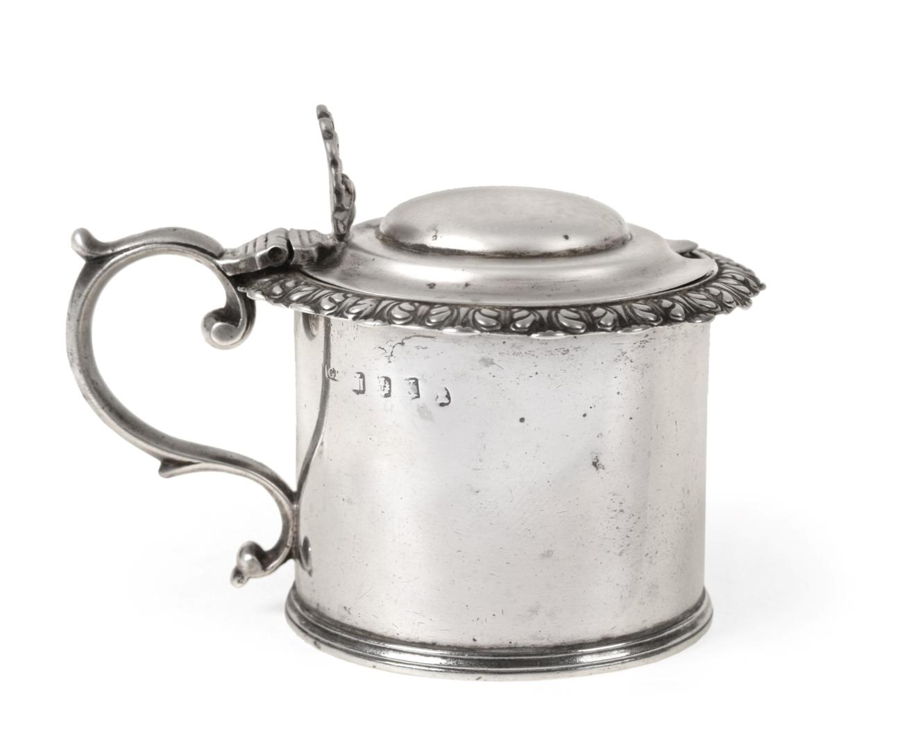 Lot 3021 - A George IV Scottish Silver Mustard-Pot, Probably by George Paton, Edinburgh, 1829, drum-shaped and