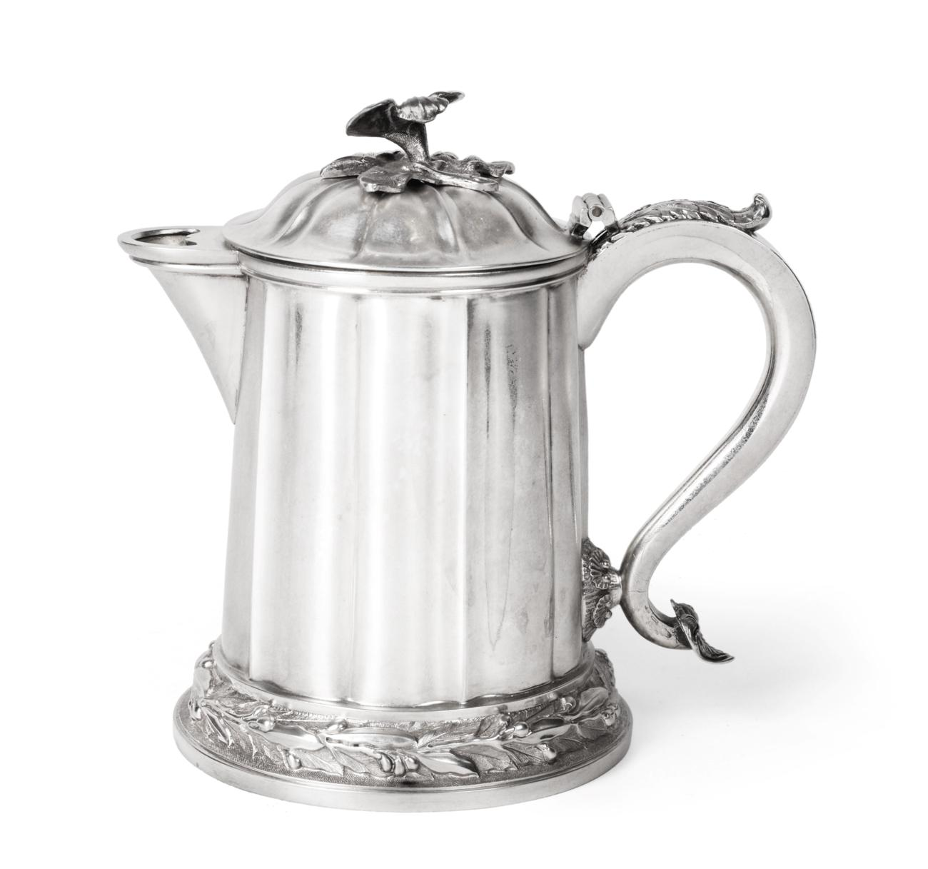 Lot 3024 - An Indian Colonial Silver Jug, by Hamilton and Co., Calcutta, Mid 19th Century, shaped...