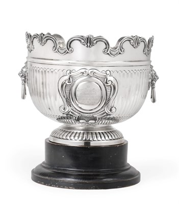 Lot 3042 - A Victorian Silver Punch-Bowl, by William Hutton and Sons, London, 1900, in the form of a Queen...