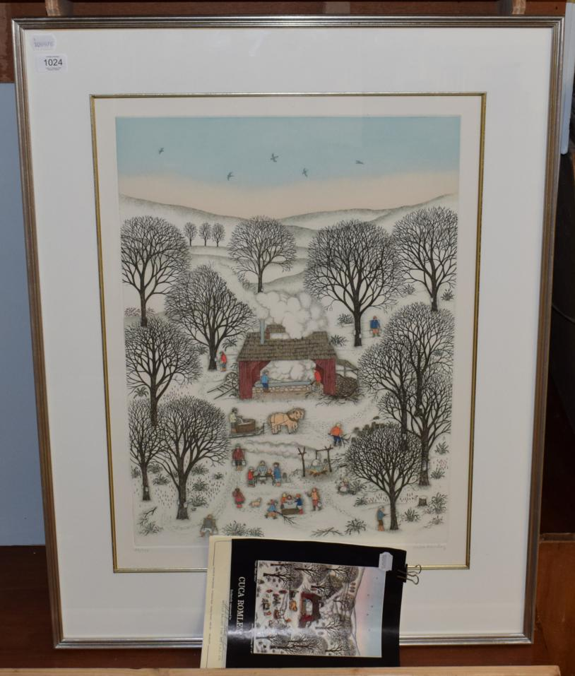 Lot 1024 - Cuca Romley, ''Sugar Maple Grove'', signed in pencil, lithograph