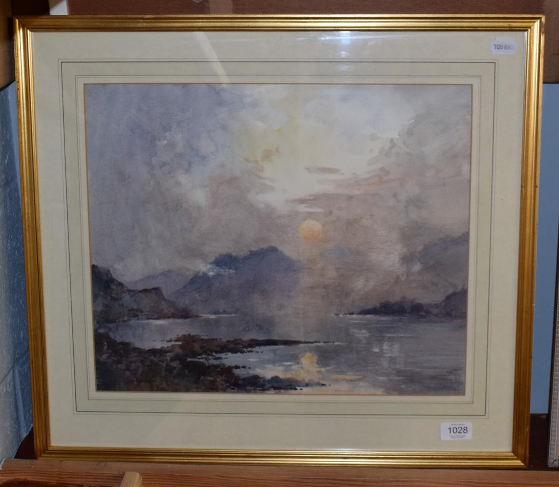 Lot 1028 - Attributed to Robert Leslie Howey, Atmospheric landscape, signed watercolour
