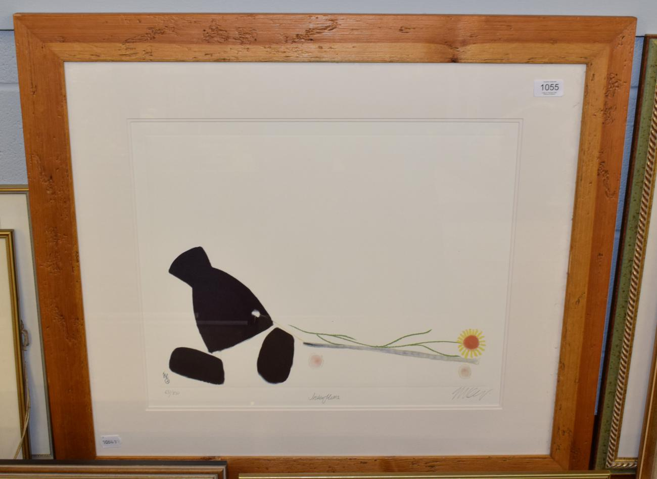 Lot 1055 - Mackenzie Thorpe ''Interflora'', signed and numbered limited edition print, 631/850, 42cm by 50cm