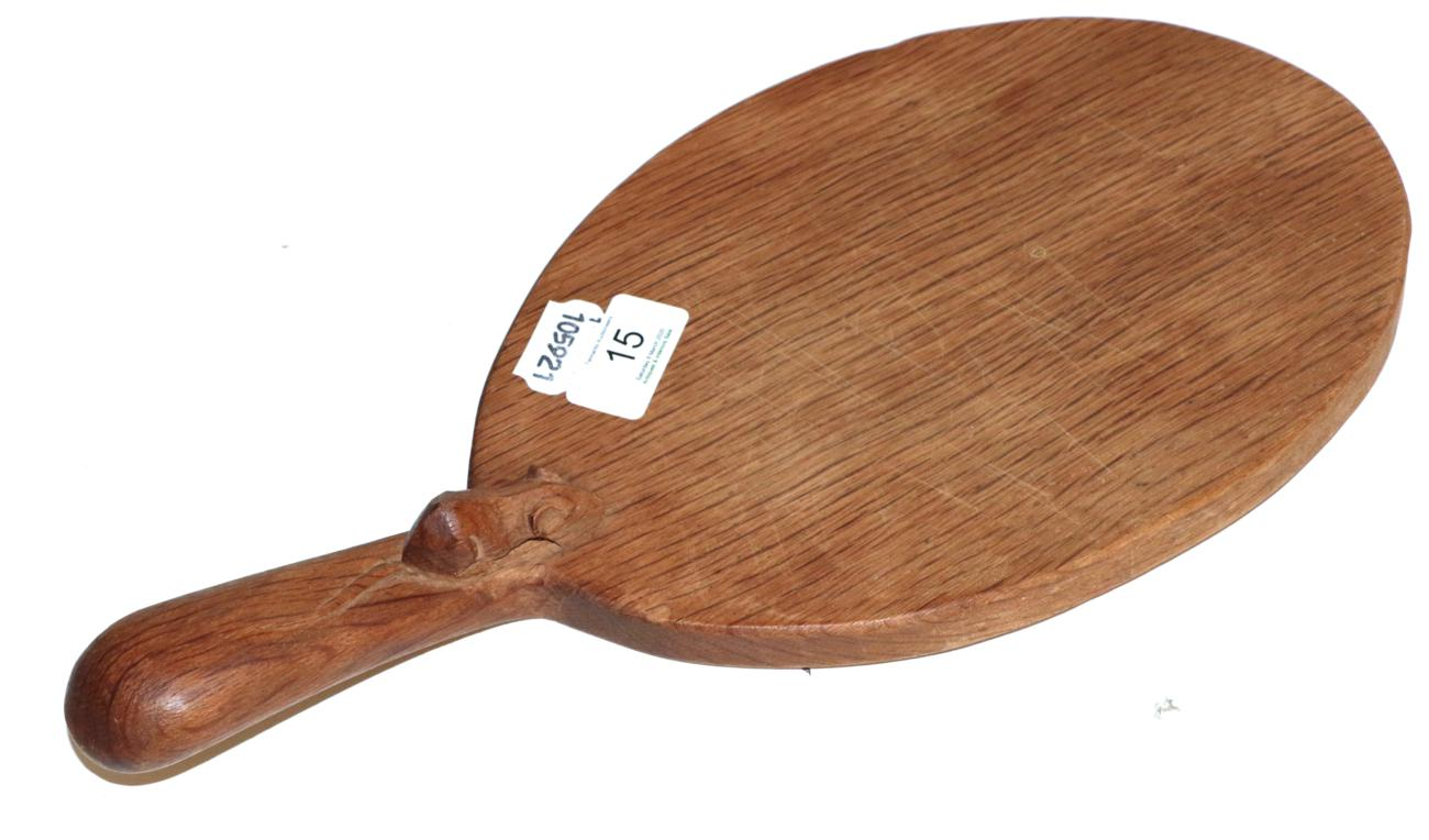 Lot 15 - A Mouseman cheese board