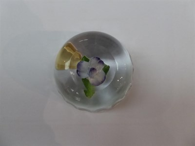 Lot 149 - Eight various 19th century and later paperweights including a millefiore example