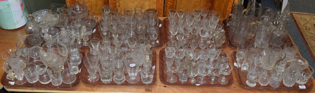 Lot 364 - A large quantity of 19th century and later glass consisting of small drinking glasses including...