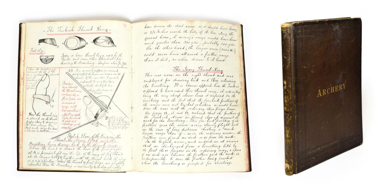 Lot 2103 - Payne-Gallwey (Sir Ralph) Archery - An outstanding manuscript compiled by Sir Ralph Payne...