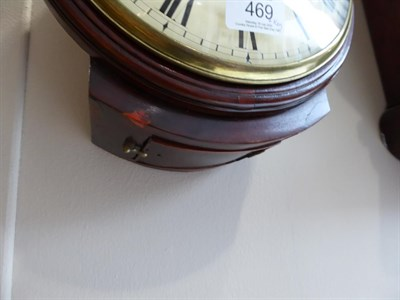 Lot 469 - A Mahogany Wall Timepiece, signed Wm Salmon, London, 19th century, side and bottom doors,...