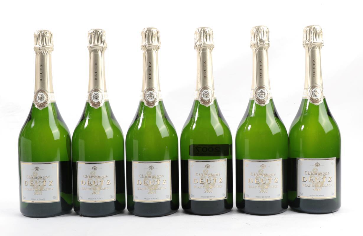 Lot 2007 - Deutz Champagne 2011 Blanc de Blancs (six bottles)