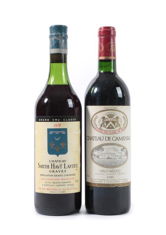 Lot 2033 - Château Smith Haut Lafite, Graves 1978, (one bottle), Château De Camensac 1985 Haut-Médoc,...