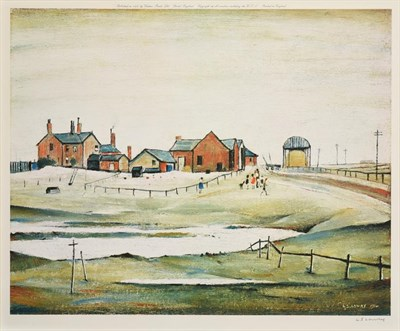 Lot 1000 - After Laurence Stephen Lowry RBA, RA (1887-1976) ''Landscape with farm buildings'' Signed, with the