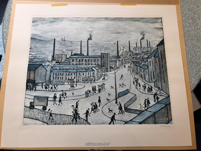 Lot 1004 - After Laurence Stephen Lowry RBA, RA (1887-1976) ''Huddersfield'' Signed, with the blindstamp...