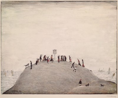 Lot 1009 - After Laurence Stephen Lowry RBA, RA (1887-1976)  ''The Notice Board'' Signed, with the...
