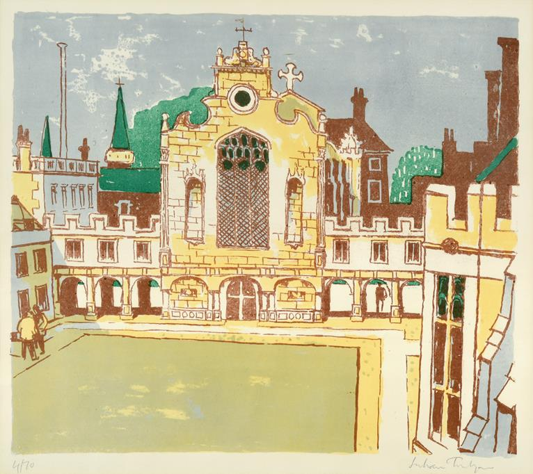 Lot 1019 - Julian Trevelyan RA (1910-1988) ''Peterhouse College'' Signed and numbered 4/70, lithograph...