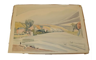Lot 1037 - Edith Lawrence (1890-1973) ''River Seine'' Signed and inscribed, watercolour, together with...