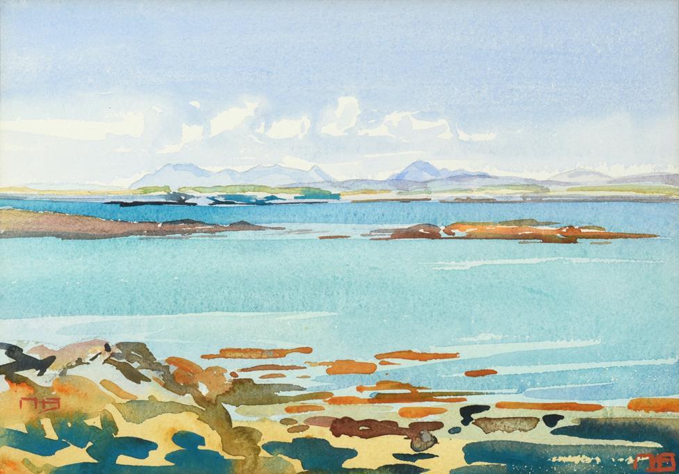 Lot 1039 - Mary Holden Bird (1900-1978) Scottish ''Good Morning'' Monogrammed, watercolour, 24cm by 34cm...