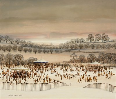Lot 1071 - Brian Shields 'Braaq' FBA (1951-1997) ''Fête Day'' Signed and dated (19)75, inscribed ''Ann'',...