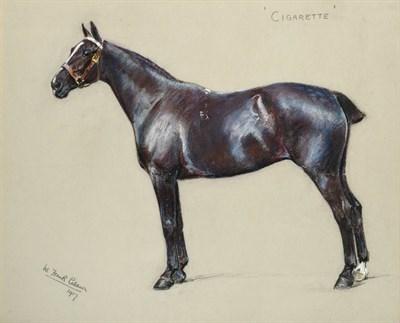 Lot 1026 - William Frank Calderon (1865-1943) ''Cigarette'' Signed, inscribed and dated 1917, pastel,...